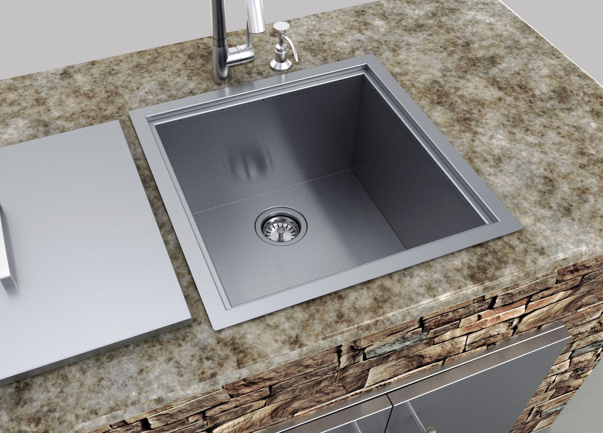 Exceptionnel ... Drop In Bar Sink With Faucet U0026 Cutting Board