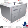 "30"" Double Drawer Door Combo"