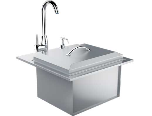 Drop In Bar Sink With Faucet & Cutting Board