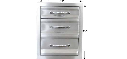 Barbecue Island Drawers