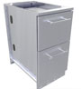 stainless steel trash drawer cabinets