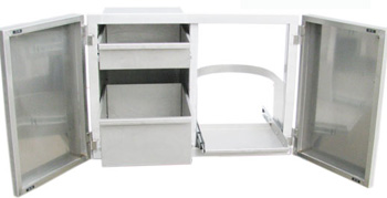 FLUSH DOUBLE DOOR / TANK HOLDER & DUAL DRAWERS